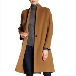 Vince Wool Blend Coat in Classic Camel